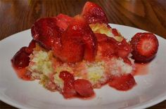 This one pan strawberry dump cake can't be easier. I'm not crazy about the name but even so, give it a try on your next family cookout.