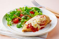 Chicken breasts get a crispy coating and a topping of pasta sauce and cheese in this homey version of an Italian classic. Quick, easy and delicious - you can't go wrong with this Italian Chicken Mozzarella recipe.
