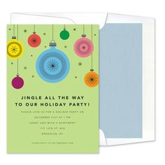 Ornaments Invitations - Real Simple (finestationery.com)