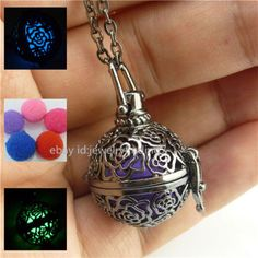 Glow-Ball-Locket-Necklace-Box-Aromatherapy-Essential-Oil-Fragrance-Diffuser