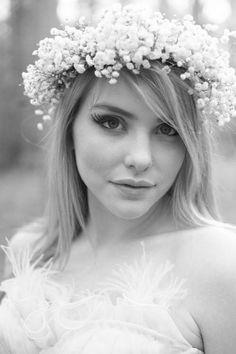 Alice in Wonderland Bride Makeup, wearing Claire La Faye gown