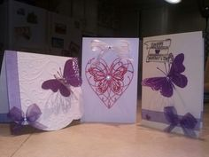 Mothers Day cards with memory box dies