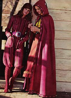 'A knocker jumpsuit of splendidly striped rich, rich Stevens-Hockanum Wool and Mohair.' (1971) #McCalls