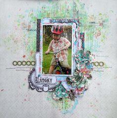 Jackie Clark - using Blue Fern Studios Mini Ring Things chipboard