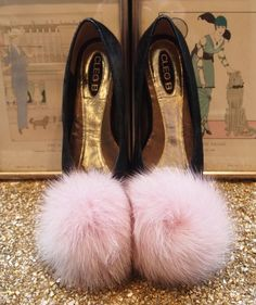 pink pom-poms. I would totally wear these alone in my room and feel fantastic about it!