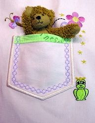 Frog Prince Pocket - 5x7 | Floral - Flowers | Machine Embroidery Designs | SWAKembroidery.com Oma's Place