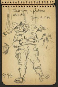 Sketchbooks of a 21 Year-Old World War II Soldier
