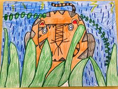 This lesson is inspired by Henri Rousseau's painting, Surprised! Storm in the Forest . I love this lesson for many reasons... First, the re...