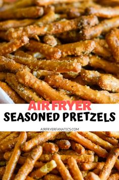 air fryer recipes Make a delicious treat with Air Fryer Seasoned Pretzels that are also easy to make too! Make a delicious treat with Air Fryer Seasoned Pretzels that are also easy to make too! Air Fryer Recipes Appetizers, Air Fryer Recipes Low Carb, Air Fryer Recipes Breakfast, Air Fryer Dinner Recipes, Lunch Recipes, Healthy Recipes, Meat Appetizers, Easy Recipes, Ninja Recipes