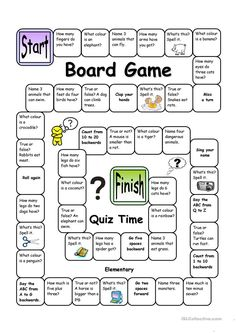 English Language, ESL, EFL, Learn English, Vocabulary and Grammar Board Game - Quiz Time (Easy) you can find similar pins below. We have brought the b. Fun Learning, Learning Activities, Teaching Resources, Articulation Activities, Therapy Activities, English Games, English Activities, English Lessons, Learn English