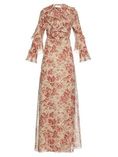 Herbarium-print georgette gown | Gucci | MATCHESFASHION.COM US