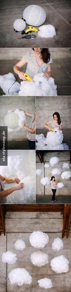cloud lamps!! these will be awesome for my future kids room haha (Diy Wedding Lighting)