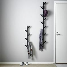 "TJUSIG Hanger, black, 30 ¾"" - IKEA Hat Storage, Bench With Shoe Storage, Storage Ideas, Ikea Tjusig, Electric Box, Hat Hanger, Diy Purse Hanger, Recycling, Painted Drawers"