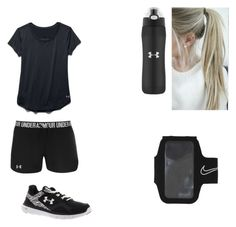 """Running"" by fulop10 ❤ liked on Polyvore featuring Under Armour and NIKE"