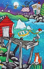 """The Grumpy Goat Gallery: Valentine starts with """"V"""" Painting Videos, Painting Lessons, Crewel Embroidery, Naive Art, Whimsical Art, Newfoundland, Stone Painting, Painted Rocks, Folk Art"""
