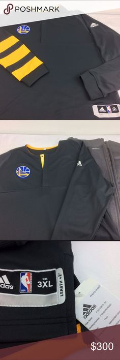 NWT AUTHENTIC NBA Adidas Golden State Warm Up 3XL NWT AUTHENTIC Team Issued  NBA Adidas Golden 6e2532cbd