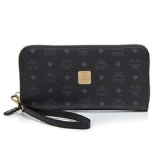 "100% Authentic MCM Zipped Large Wristlet Price Firm: 100% Authentic brand-new: MCM Color Visetos Zipped Large Wristlet: Color Black: Imported Detachable wristlet strap Zip closure; lined Two interior slip pockets, interior zip pocket, twelve card slots 7.75""L x 1""W x 4""H MCM Bags Clutches & Wristlets"