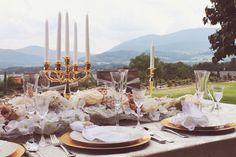 Zlatá svatební tabule#wedding table with gold tones