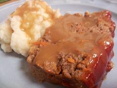Meatloaf Meatloaf Recipes, Mashed Potatoes, Hamburger, Main Dishes, Friday, Tasty, Beef, Meals, Baking