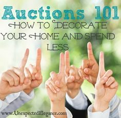 Have you ever considered going to an auction? They might seem intimidating but I have broken down all the different types and how amazing the deals can be!!! Find out more: Auctions 101 How to Decorate Your Home and Spend Less