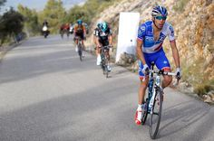 Thibaut Pinot on his way to victory on stage 2 at the Ruta del Sol