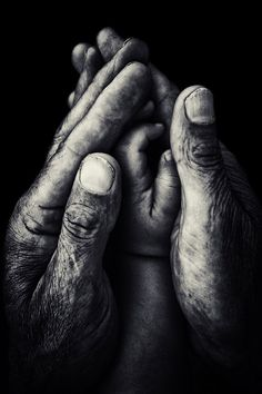 Grandmas hold our tiny hands for just a little while, but our hearts forever. ~ Unknown, (photo by István Kerekes)