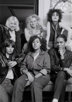 The Slits, along with bands like the X-Ray Spex, The Raincoats, and Blondie, added a vital female voice to the often male-dominated punk world. | Punk Icon Viv Albertine Shares Her Greatest Style Moments - Here's Viv (back row, center) with (clockwise from top left) Debbie Harry of Blondie, Siouxsie Sioux of Siouxsie and the Banshees, Pauline Black of The Selecter, Poly Styrene of X-Ray Spex, and Chrissie Hynde of The Pretenders.