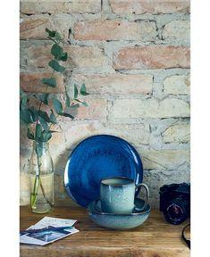 Porcelain Dinnerware, Dinnerware Sets, Lava, Azul Vintage, Rooster Kitchen Decor, Four Micro Onde, Crystal Glassware, Different Tones, Villeroy