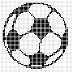 Use to see how chart = pattern Angels Crochet - Soccer Ball Chart Cross Stitch Cards, Cross Stitching, Cross Stitch Embroidery, Graph Crochet, Crochet Cross, Crochet Patterns, Hat Crochet, Embroidery Patterns, Free Crochet