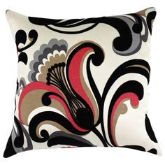 I pinned this Romanza Pillow from the Black & White & Red All Over event at Joss and Main!
