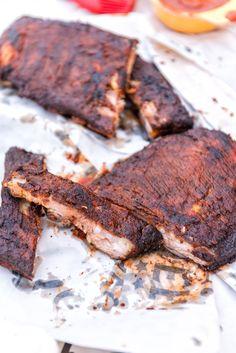 Hickory Smoked Pork Ribs with Paleo BBQ Sauce