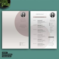 Application template with cover letter, curriculum vitae, letter of motivation. Graphic Design Resume, Cv Design, Resume Design Template, Cv Template, Interior Design Resume, Cv Curriculum, Cv Inspiration, Infographic Resume, Timeline Design