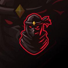 Awesome ninja logo for esport Premium Vector Logo Esport, Bold Logo, Ninja Logo, Profile Logo, Team Logo Design, Esports Logo, O Pokemon, Photo Logo, Game Logo