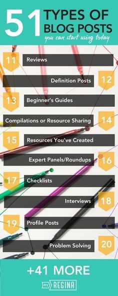 51 epic types of blog posts for you to try out! It's good to switch things up every so often with your blogging, so if you're looking for something to try, check these ideas out.