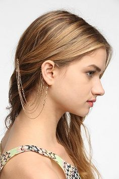 Delicate Rhinestone Hair Comb Cuff Earring