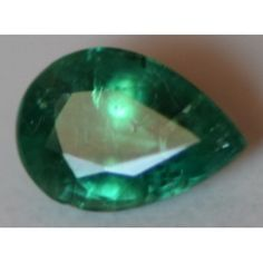 Natural  Emerald Pear shape of 0.55 carat
