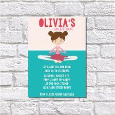 Printable Invitation Yoga Invitation Yoga by BestWishesCo on Etsy