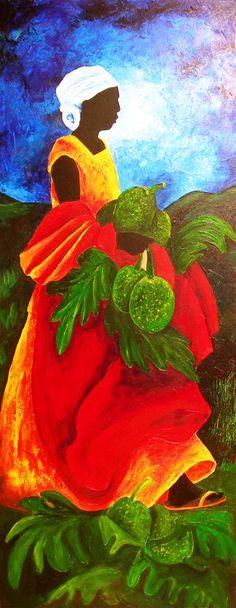 "Patricia Brintle, ""Saisons Breadfruit"" | Acrylic on Canvas | $6,400 | Source: www.art-mine.com/... | Agora Gallery | Contemporary Fine Art | NYC, NY"