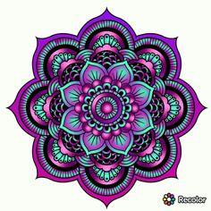 – My colorings - Malvorlagen Mandala Mandala Art, Mandala Design, Mandalas Drawing, Mandala Coloring Pages, Mandala Tattoo, Color Pencil Art, Pretty Wallpapers, Fractal Art, Doodle Art