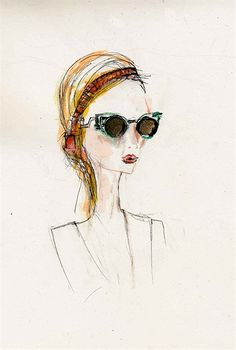 Lady with glasses illustration by Lucia Emanuela Curzi