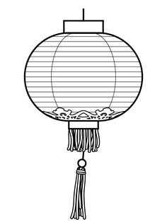 free lantern coloring pages