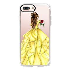 The Princess and The Rose - iPhone 7 Plus Case And Cover (125 BRL) ❤ liked on Polyvore featuring accessories, tech accessories, phone cases, phone, electronics, iphone case, clear iphone case, iphone cases, iphone cover case and apple iphone case