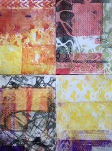 Gelli Printing Lou Davis Designs - Silkworm.org.uk