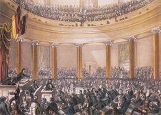 Nationalversammlung 1848 in der Frankfurter Paulskirche