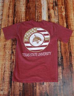 4367a7b355ea2 TXST Monogram Flag - BRICK at Barefoot Campus Texas State Bobcats