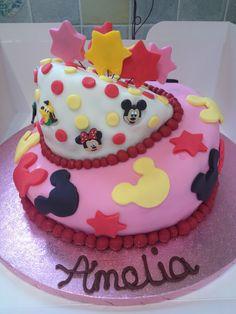 Topsy turvy Mickey Mouse cake