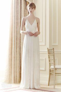 jenny packham bridal 2014 summer wedding dress empire waist beaded sequins straps
