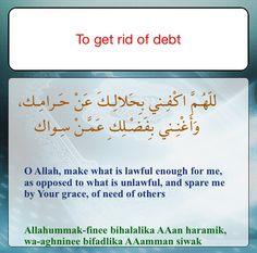 dua for abundance in rizq and fulfilment of debt prayer