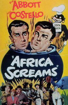 Africa Screams. Bud Abbott, Lou Costello, Clyde Beatty, Frank Buck, Max Baer, Buddy Baer, Shemp Howard. Directed by Charles Barton. United Artists. 1949