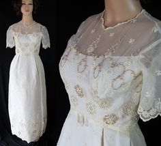Victor Costa Pandora Wedding Dress Bridal Gown Beaded Train by PetticoatsPlus on Etsy